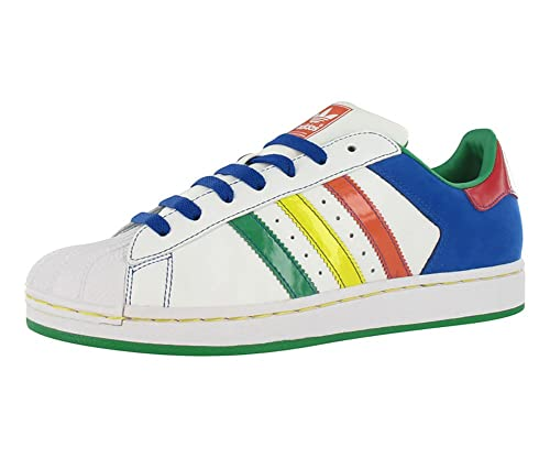 Encarnar comerciante petróleo  Buy adidas Mens Superstar ll cb Leather Low Top Lace Up, White Multicolor,  Size 12.0 at Amazon.in