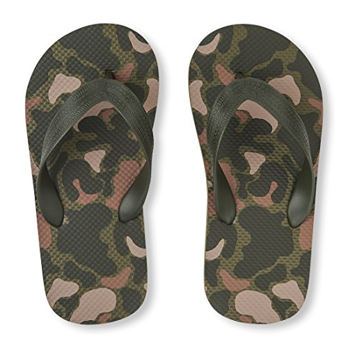 The Children's Place Boys' BB FF Flip-Flop, Camo, Youth 3-4 Medium US Big Kid