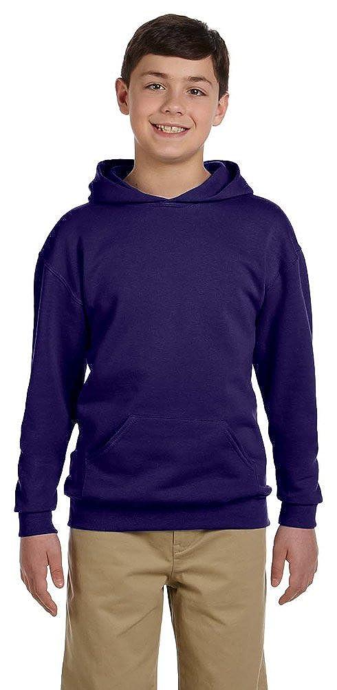 50//50 NuBlend Fleece Pullover Hood 996Y DEEP PURPLE Jerzees Youth 8 oz.