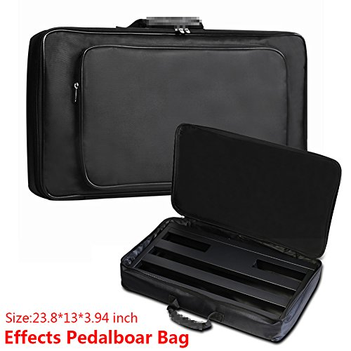 Guitar Pedal Board Case, Portable Soft Effects Pedal Board Carrying Lightweight Gig Bag Soft Case Universal Bag Black
