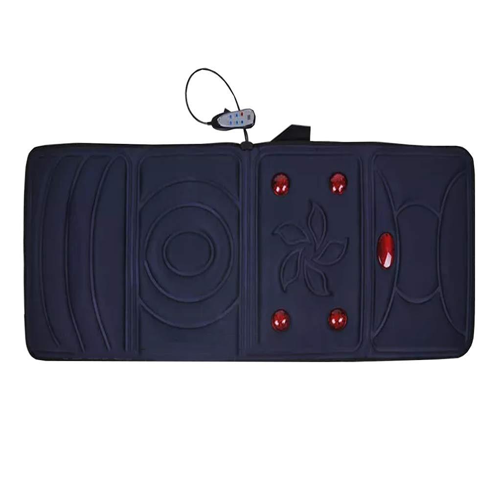 マッサージチェアクッション付き熱電動バックマッサージディープティッシュペーパーで腰椎、腰、背中の痛みを軽減するホームオフィスと車の使用 B07QGDK6XX