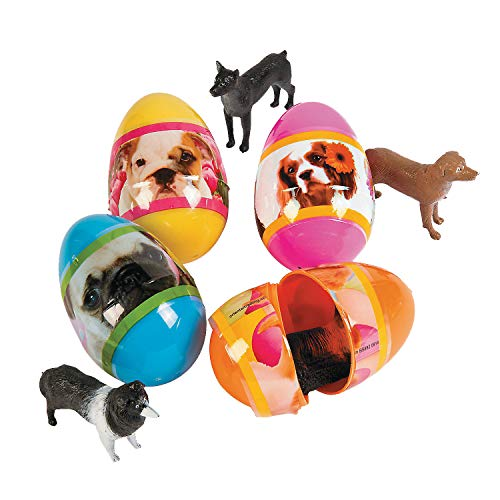(Egg Surprise with Toy Puppy Inside (12 Pack) Easter Basket Stuffers, Party Favors, and Classroom)