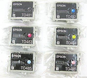 Genuine Epson 48 Ink Cartridges 6 pack in Original Bulk Packaging for Epson Stylus Photo R200 R220 R300 R300M R320 R340 RX500 RX