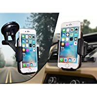 Car Mount,JAMRON 2-in-1 Universal Car Phone Mount Holder For Windshield Dashboard or Air Vent With Metal Vent Mount and Big Strong Suction Cup for iPhone X/8/8 Plus/7/7 plus/6/6+/6s/6s plus,Samsung S8