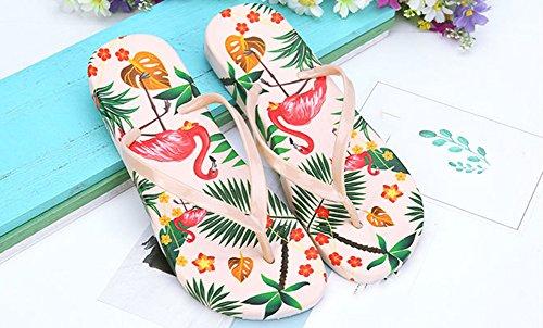 Été Flip Chaussures Plateforme Flops Abricot Sandales Chaussons Femmes Tongs Pantoufles Bohême Respirante Bevalsa de Plage q7Ef4Ctw