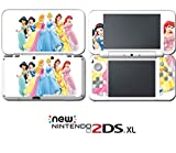 Princess Cinderella Belle Ariel Video Game Vinyl Decal Skin Sticker Cover for Nintendo New 2DS XL System Console