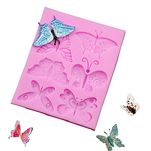 Butterfly Chocolate Candy Silicone Cake Mould for Cake Decoration (Mold Chocolate Butterfly)