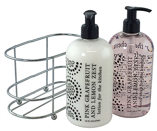 Hand Care Caddy - 3 Pc Gift Set - Pink Grapefruit and Lemon Zest Duo in Caddy
