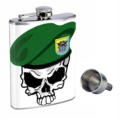 【あす楽対応】 Perfection B015QNHM5Q Flask Inスタイル8オンスステンレススチールWhiskey Flask with with Free Funnelスカルdesign-103 B015QNHM5Q, 留萌市:93f8872b --- domaska.lt