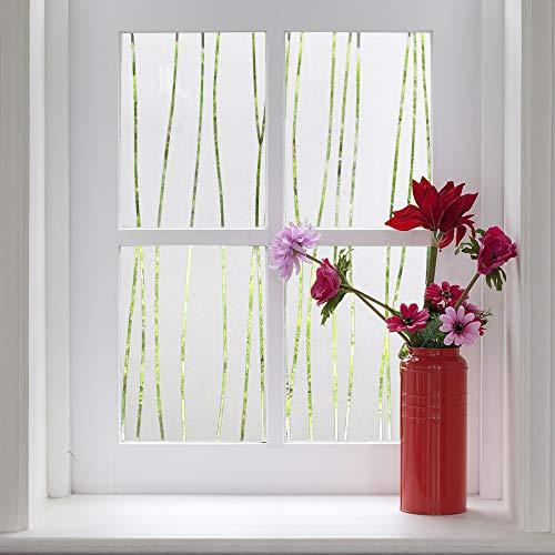 Finnez Window Film for Privacy and Light Protection | Vinyl Sticker Film Creates a Frosted Glass Look |Static Cling | Perfect for Home and Office (17.7