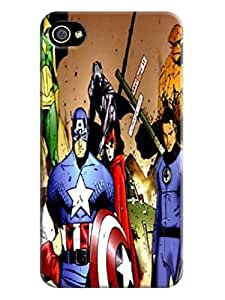 Patricia Alvarez TPU Marvel Avengers Captain America sport fans case fit for Iphone 4S