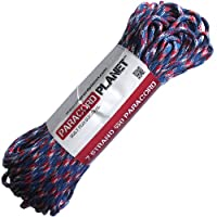 Paracord Planet® USA Made 550 Type III Paracord, 100 Feet - Now Selling Over 200 Parachute Cord Colors! (USA Camo)