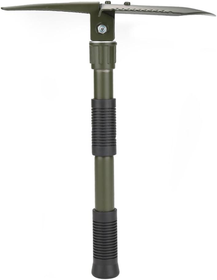 en Acier de Haute qualit/é Militaire Pelle Pliable avec Sac de Transport pour la Survie Camping en Plein air Dilwe Pelle Camping Multifonctions