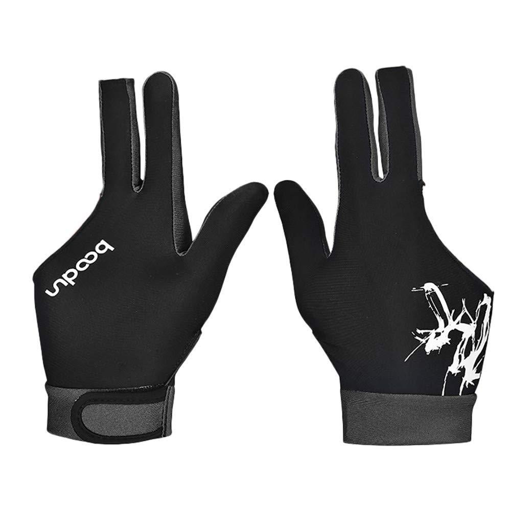 Sikye Billiard Glove,Spandex Elastic Billiard Gloves Anti-Slip Breathable Three-Finger Gloves Both Wear Left and Right (Palm Width M:8-8.5cm, Blue)