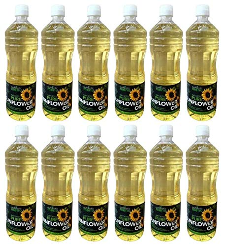 Authentic Menu Imported Pure Sunflower Oil, 33.8 fl oz (2 count) (Pack of 6) by AUTHENTIC MENU