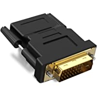 Naropox HDMI Hembra a DVI 24 + 1 Adaptador DVI-D Macho Alta Velocidad Adaptador HDMI a DVI Chapado en Oro Soporte 1080P para HDTV, Plasma, DVD y proyector