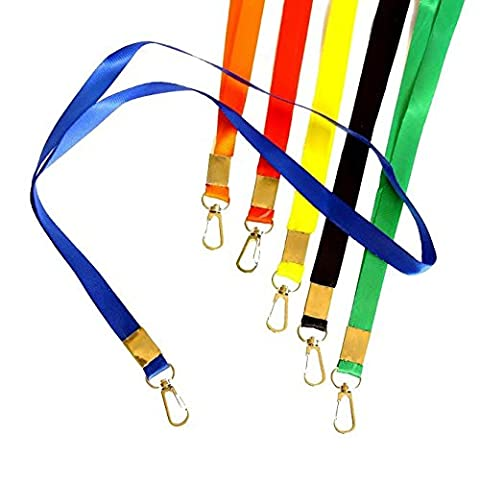 Attractive Lanyards in Vibrant Colors! Ideal for Name Tags, Trade Shows, ID Badge,Champion, Tours, and Events. Pack of 12 Durable Nylon Neck ID Name Tag - National Champions Keychain