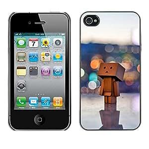 // CIUDAD ACTUAL MECELL // SmartPhone funda carcasa plástico policarbonato genial imagen para iPhone 4/4S /// Juguete 3D figurilla arte ciudadgrande monaca arte madera ///