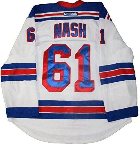 Nash White Jersey (Rick Nash New York Rangers 2015-2016 Season Game Used #61 Playoffs Round 1 White Jersey (Size 56))