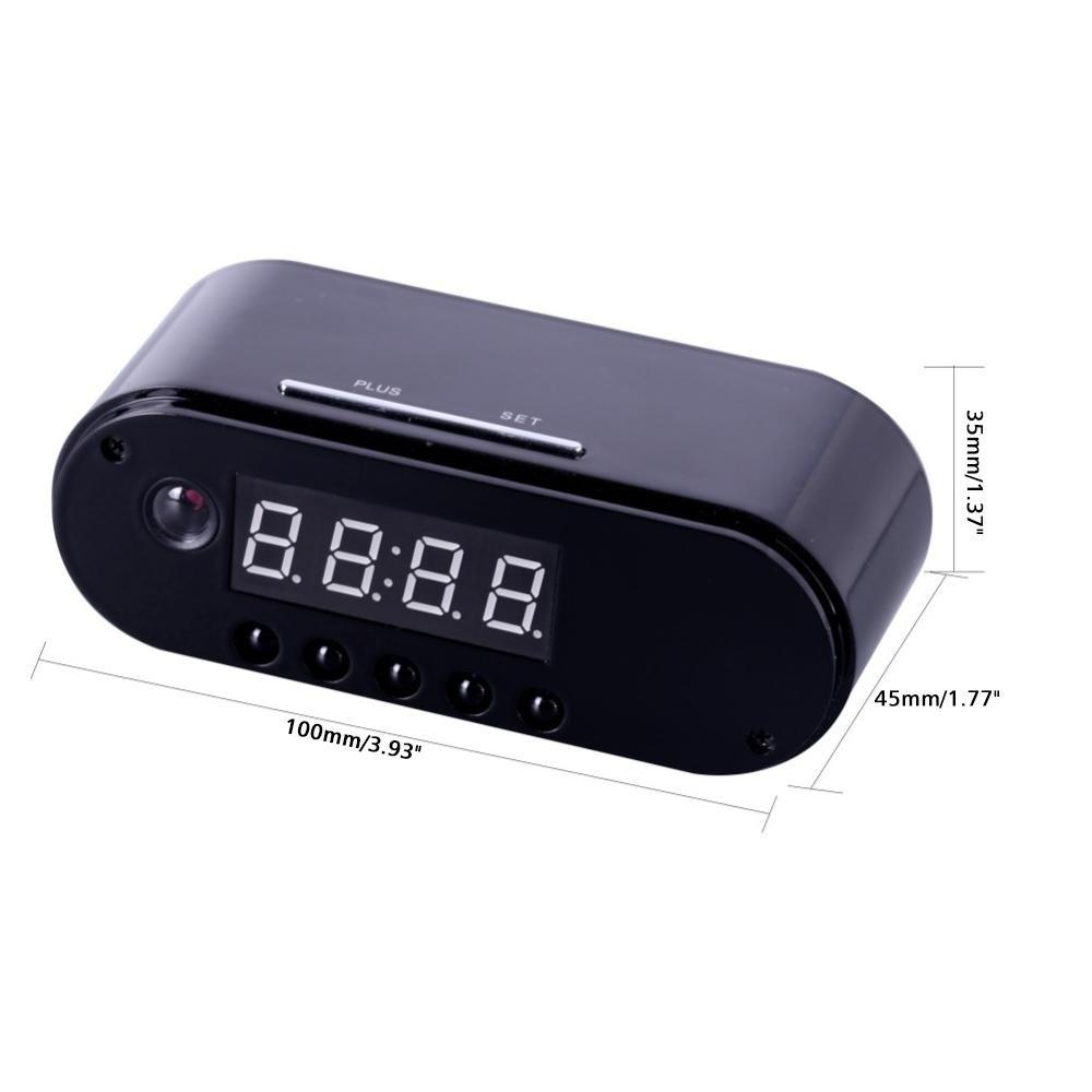 Teepao Reloj Ocultado de la Cámara Espía de WiFi 12 Horas del Sistema, Cámara Oculta de HD 1080P Wifi Reloj Despertador Visión Nocturna / Detección de ...