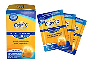Ester-C Effervescent 1000 mg Packets, 21 Count