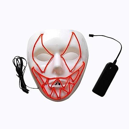 PROKTH Mascara led Hombre Mascaras de Halloween Mascaras de la Purga Terror Disfraz la Purga Mujer
