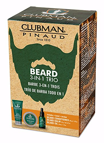Price comparison product image Clubman Beard 3 Piece Kit (1pcs each of Beard Conditioner, Balm & Oil), 3pc - Kit