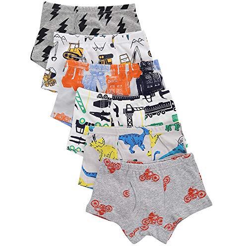benetia Boys Toddler Underwear Kids Briefs Cotton Cars Dinosaur 6 -Pack 2t 3t -