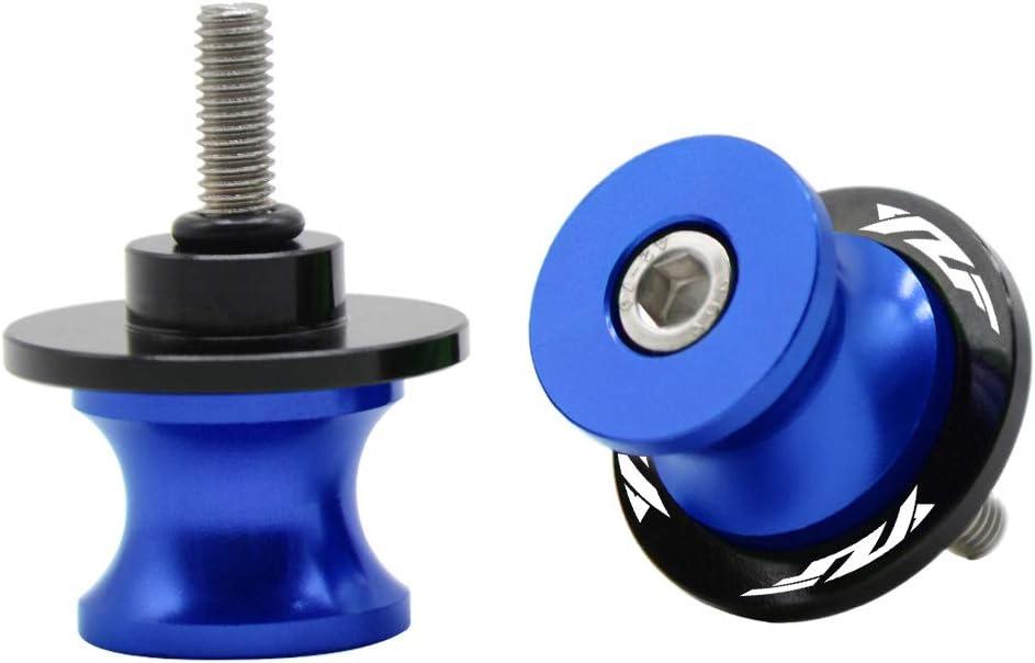 2 Pcs 6MM Motorcycle CNC Swing Arm Stand Screws Sliders Spools For Yamaha YZF R1 R3 R6 R25 R125 R6 R6S 600R Red