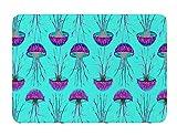 KESS InHouse Ivan Joh ''Turquoise Dance'' Teal Purple Memory Foam Bath Mat, 17 by 24-Inch, 17'' X 24''''