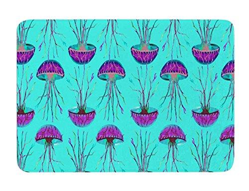 KESS InHouse Ivan Joh ''Turquoise Dance'' Teal Purple Memory Foam Bath Mat, 17 by 24-Inch, 17'' X 24'''' by Kess InHouse
