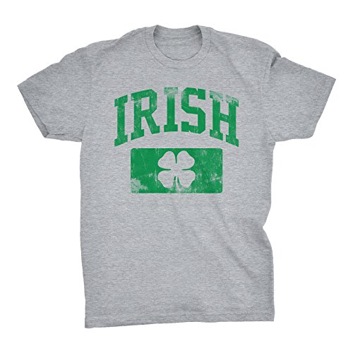 T-shirt Free Ship (ShirtInvaders Irish Athletic - Distressed - ST. Patricks Day Drinking T-Shirt - Sport Grey)