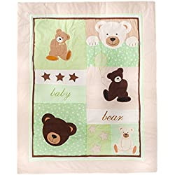 Pam Grace Creations Crib Set with Bumper, Baby Bear