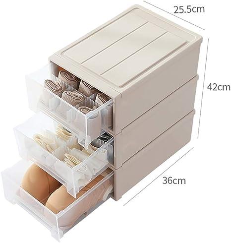 Organizadores de cajones Caja de Almacenamiento de 43 cm de Alto, Caja de plástico for guardarropa, Caja de Almacenamiento Opcional, Caja de Almacenamiento de cajones de PP ecológica: Amazon.es: Hogar