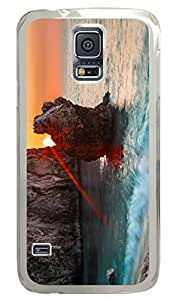 Brian114 Samsung Galaxy S5 Case, S5 Case - Fashion Crystal Clear Hard Case for Samsung Galaxy S5 Peeking Sun Waterproof Back Hard Case for Samsung Galaxy S5 I9600 hjbrhga1544