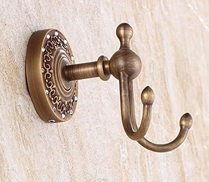 clg-fly envejecido perchero toallero cobre toalla de baño solo gancho colgador perchero de pared