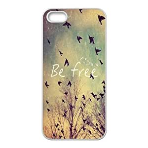 Cool Painting Be Free Classic Personalized Phone Case for Iphone 5,5S,custom cover case case580769
