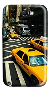 New York Cabs Polycarbonate Hard Case Cover for Samsung Galaxy Note II N7100