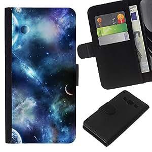 Planetar® Modelo colorido cuero carpeta tirón caso cubierta piel Holster Funda protección Para Samsung Galaxy A3 / SM-A300 ( Planets Fantasy Sky Science Fiction Cosmos )
