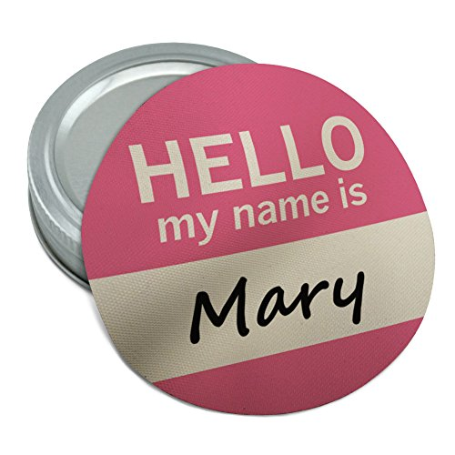 (Mary Hello My Name Is Round Rubber Non-Slip Jar Gripper Lid Opener)