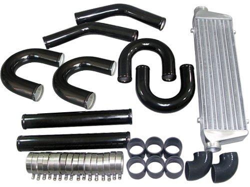 Universal DIY 28x7x2.5 Intercooler + 2.5 Inch Black Piping kit Honda Accord