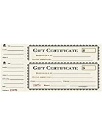 Awards certificates amazon office school supplies adams gift certificate book single paper 325 x 11 inches cream 25 yelopaper Choice Image
