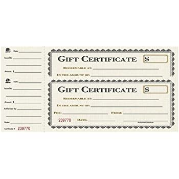 amazoncom adams gift certificate book carbonless