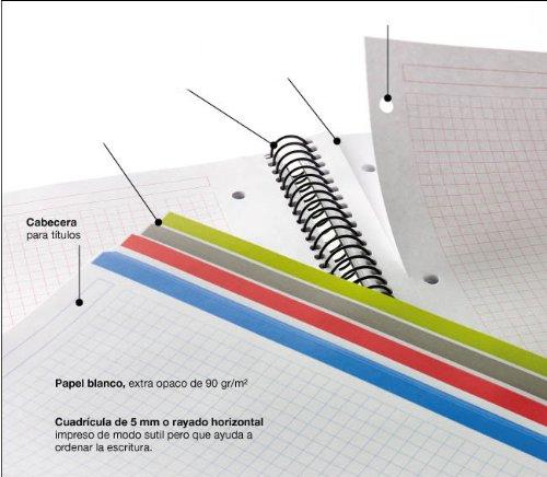 miquelrius notebook  : Miquelrius Small 4 Subject Spiral Notebook, Blue, Graph ...