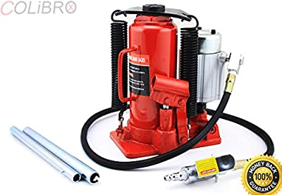 COLIBROX--12 TON AIR OPERATED POWERED POWER OVER HYDRAULIC PORTABLE BOTTLE JACK LIFT. bottle jack walmart. bottle jack home depot. bottle jack for lifted truck. best bottle jack amazon for sale.