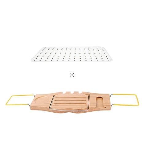 Estantes de pared MEIDUO Bandeja para bañera con multifunción, empuñadura Antideslizante, portavasos de Vino