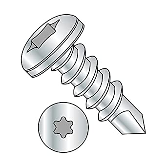 18-8 Stainless Steel Self-Drilling Screw Plain Finish Pack of 100 Phillips Drive #2 Drill Point 1//2 Length Pan Head #4-24 Thread Size