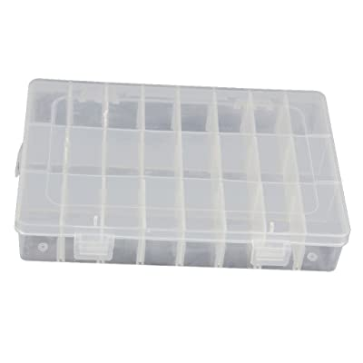 Hemore 15/24/36 Grid Clear Adjustable Jewelry Bead Organizer Box Storage Container Case: Toys & Games