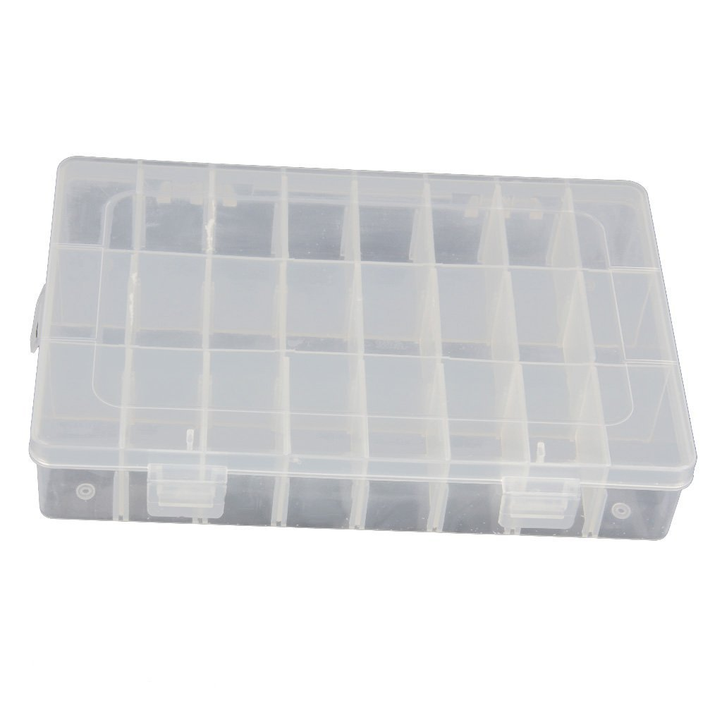 15/24/36 Grid Clear Adjustable Jewelry Bead Organizer Box Storage Container Case by Nicky's Gift G for U Co. LTD COMINHKPR32346
