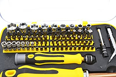 58 in 1 Screwdriver Set + Socket Set for Machinist Tool